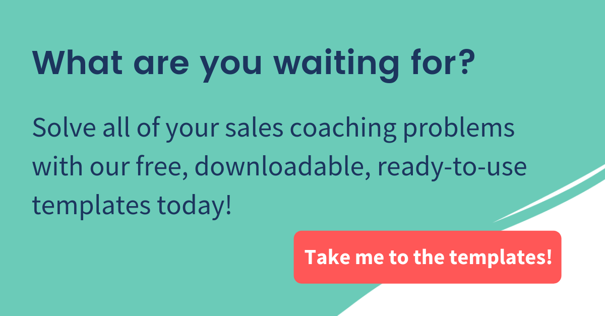 sales coaching template cta