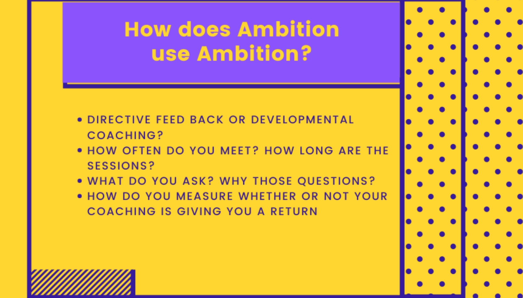 how does ambition use ambition graphic