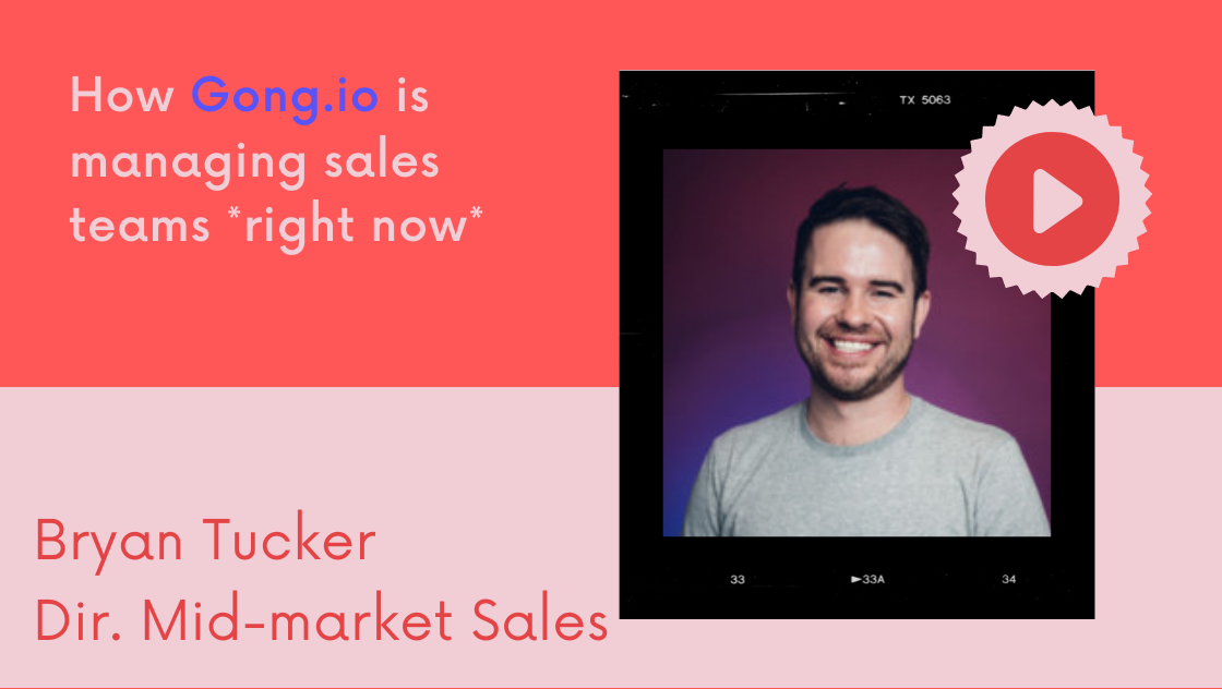 How gong is managing sales teams right now